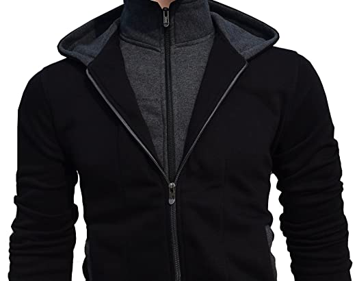 e7c1a4f4d Seven Rocks Rich Cotton Men's Hoodie Sweatshirt Jacket: Amazon.in: Clothing  & Accessories