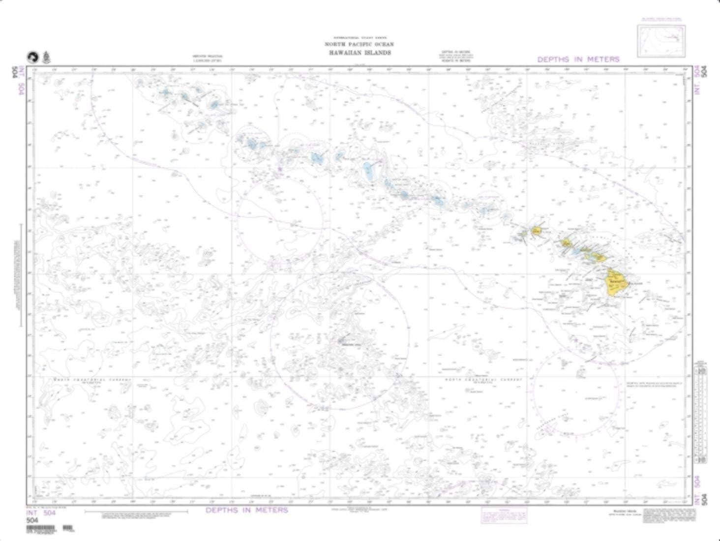 NGA Chart 504-North Pacific Ocean Hawaiian Islands