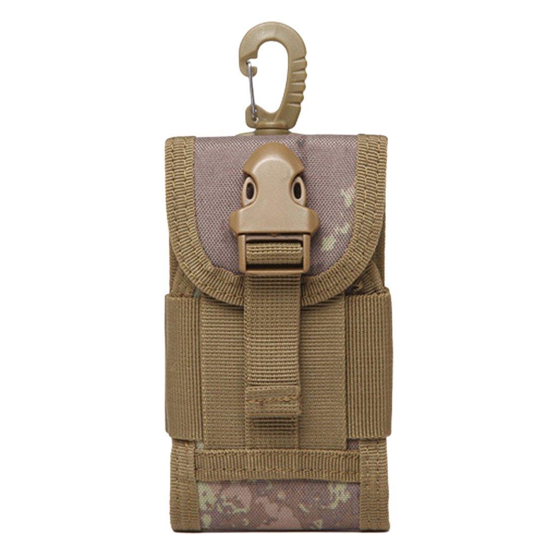 NoyoKere Portable Outdoor Tactical Ceinture Sac de Taille pour Mobile Téléphone Crochet Couverture Poche Cas Dur Portant Heavy Duty Kaki