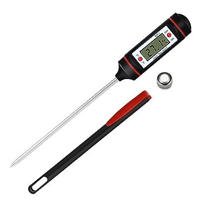 Termómetro Digital de Cocina de Lectura Instantánea Termómetro Electrónico de Comida GUYUCOM con Pantalla LCD de