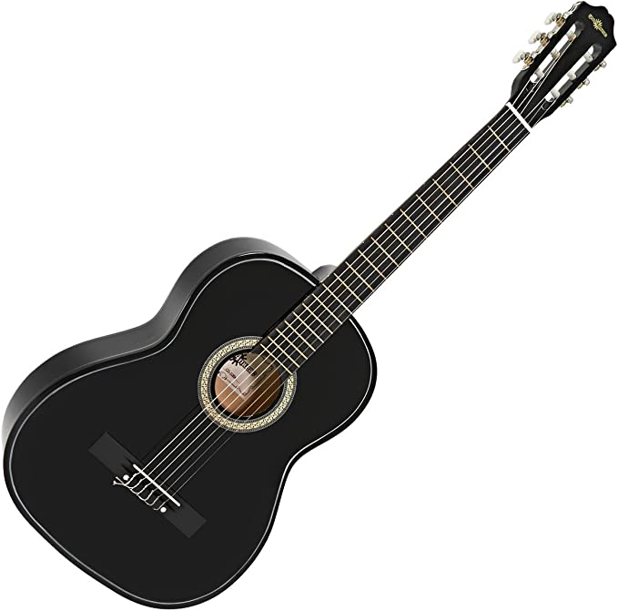 Set de Guitarra Clasica Negra de Gear4music: Amazon.es ...