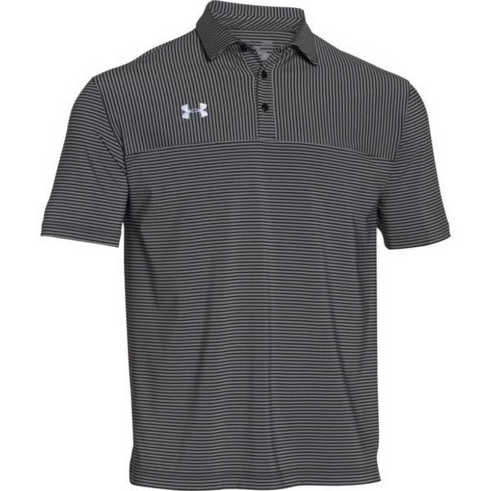 Under Armour Mens Clubhouse Polo Golf Shirt, 1270402 (Black/White ...