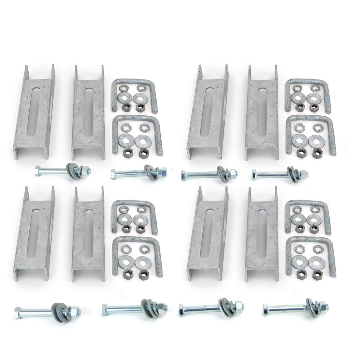 Sturdy Built (8) 8'' Galvanized Vertical Bunk Bracket Kit for 2x3 Boat Trailer Cross Members by Sturdy Built