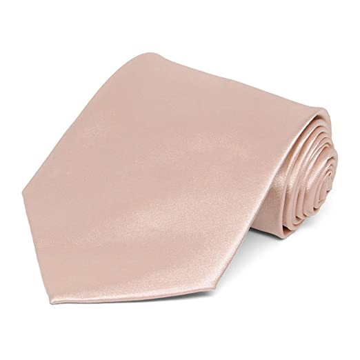 b1f2a7c46451 Image Unavailable. Image not available for. Color: TieMart Blush Pink Solid  Color Necktie