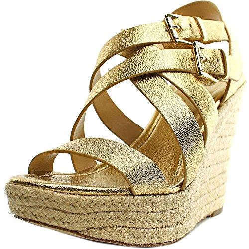 MICHAEL Michael Kors Jocelyn Espadrille Wedge Sandals Pale Gold - Jocelyn Sandal Platform Womens
