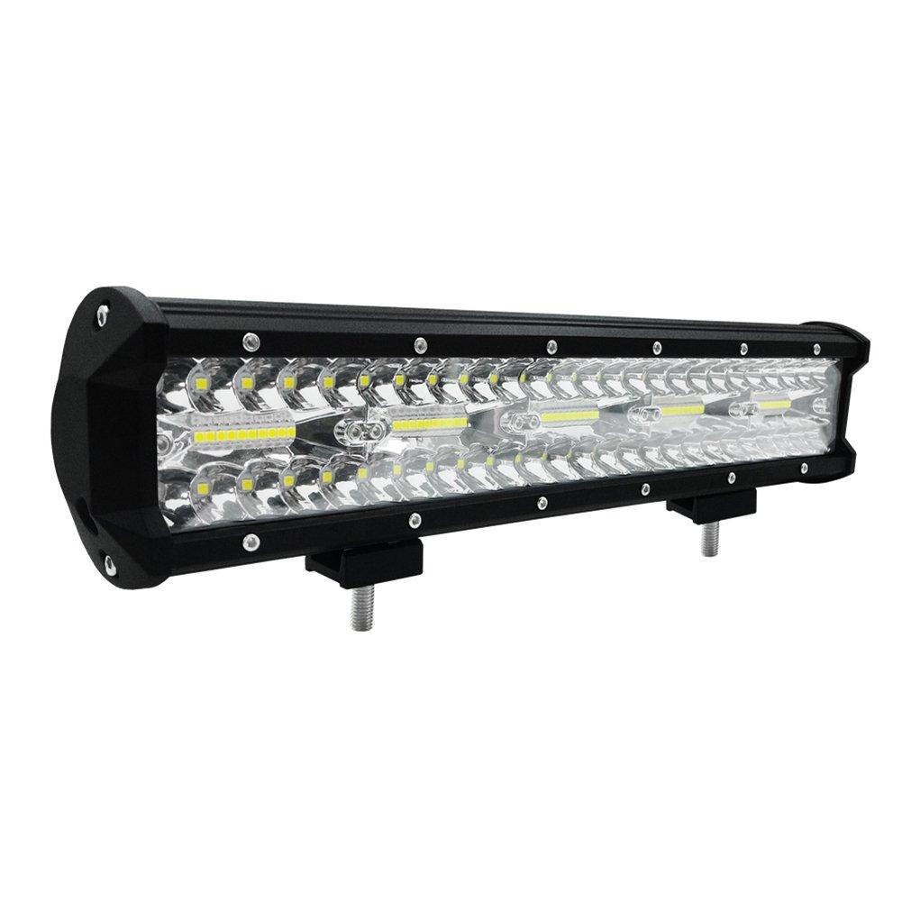 Fashionwu 1pcs 15 inch 300W High Power LED Strip Lights Off-Car Top Refit Light Bar Working Lamp