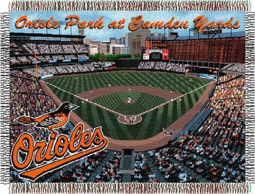 Northwest Co. 1MLB/05100/0017/PRM MLB Camden Yards Stadium Tapestry Throw