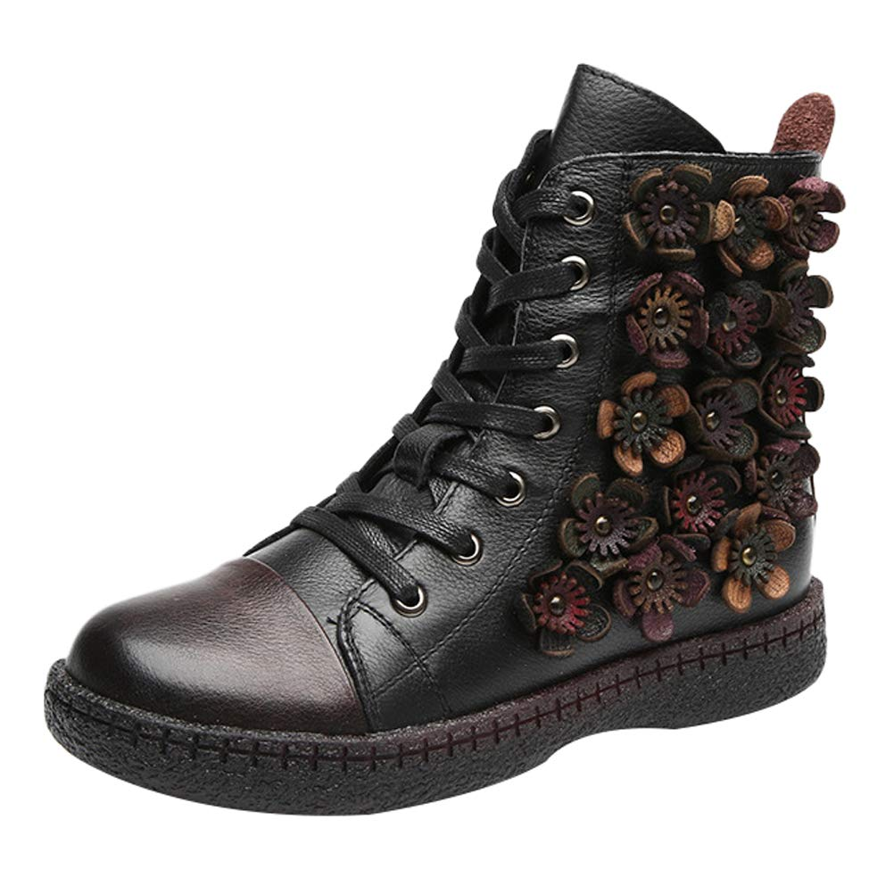 Mallimoda Donna Stivali Snow scarpe da ginnastica Vintage Retro Retro Retro Pelle Stivaletti alla Caviglia stivali efeec4