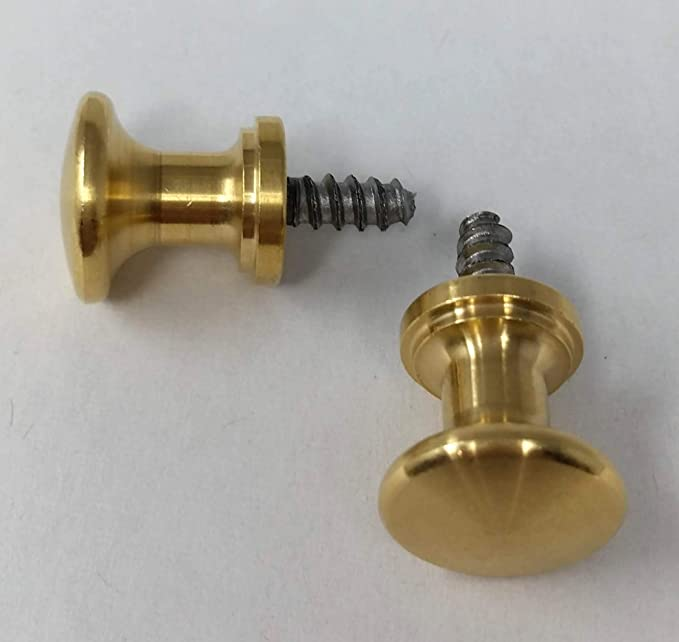 4 Vintage Style Solid Brass Barrister Bookcase Knobs 5//8 Dia #K2