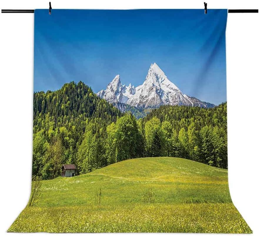 Germany 10x12 FT Photo Backdrops,Bavarian Alps Village of Berchtesgaden and Watzmann Germany Background for Photography Kids Adult Photo Booth Video Shoot Vinyl Studio Props