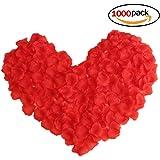 Paquete de 1000 Pétalos Rosas Artificiales Rojo Decoraciones Boda Fiesta Ceremonia Eventos Festivales