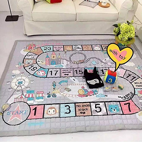 Picnic Play Tummy Time Mat - Ustide Baby Crawling Mat Baby Toy Play Mat Carpet Child Game Pad Blanket Picnic Mat,Normal With Toy