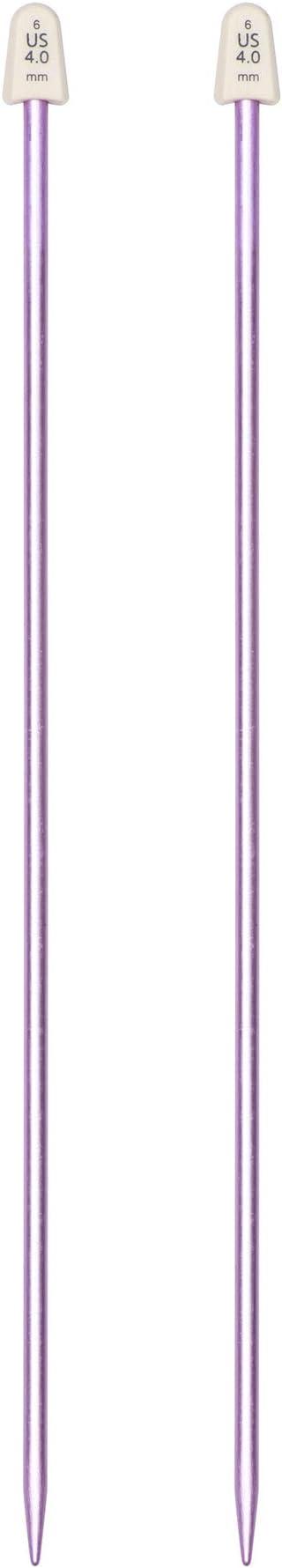 Lavender Susan Bates 10-Inch Silvalume Single Point Knitting Needle 4mm