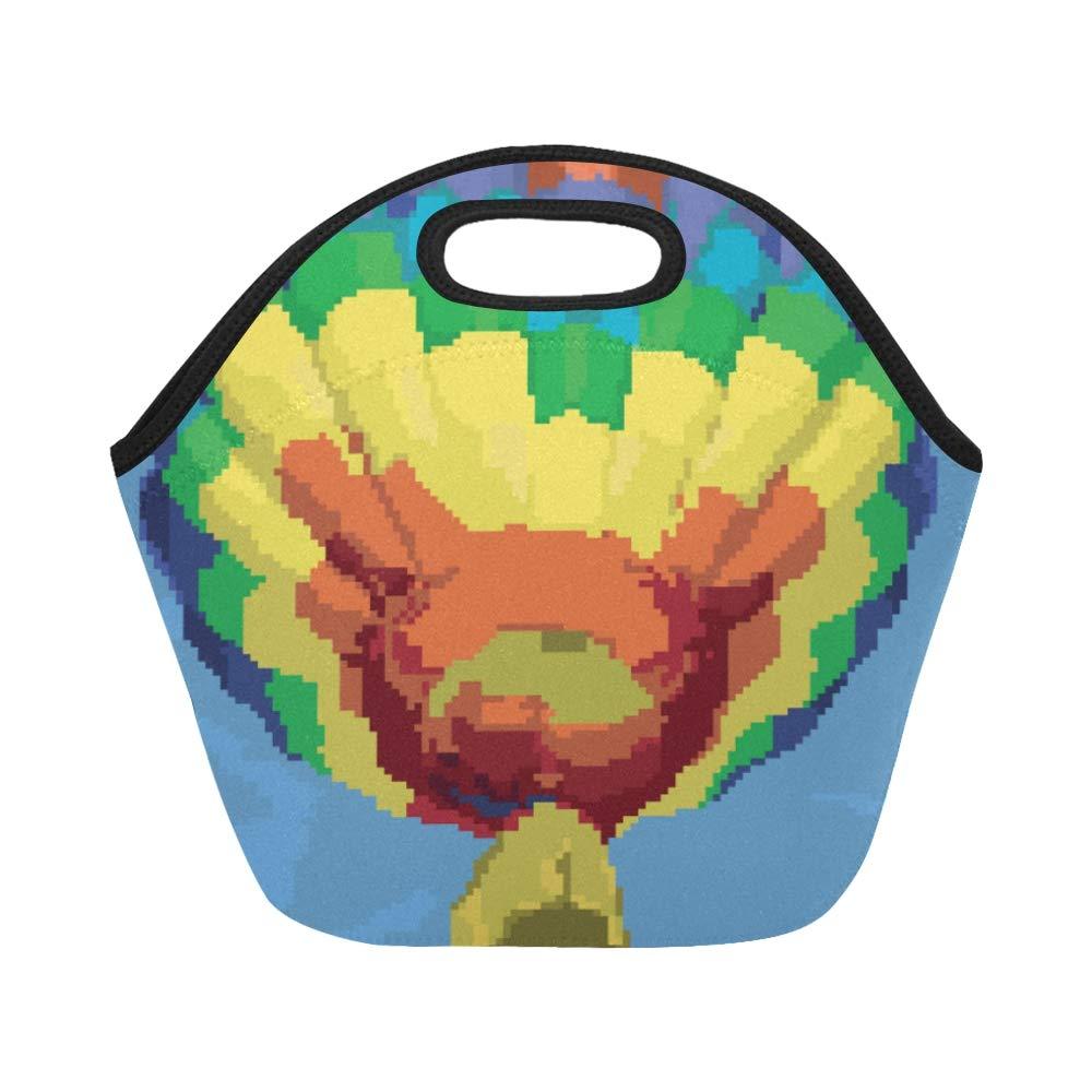 Amazon.com: Insulated Neoprene Lunch Bag Air Balloon Pixel ...