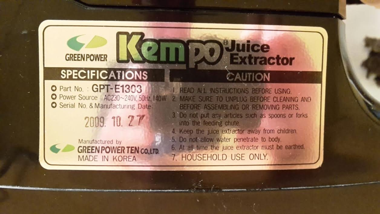 Greenpower Hippocrates GPT-1305 Plus - Extractor de zumos Slow Juicer de 2 ejes (doble rodillo), Exprimidor lento. Zumo Vivo 72 horas. 12 años de garantía.