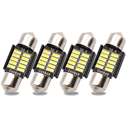Kashine C5W LED Bulb 31mm Canbus Error Free License Plate Lights 10SMD 4014 6418 6411 Festoon