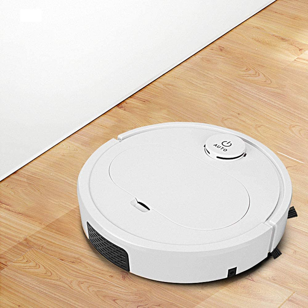 Aquila Bouton Tactile Robot ménager Balayage Intelligent Vide Rechargeable Balayage essuyage balayeuse Triple AQUILA1125 (Color : White) White