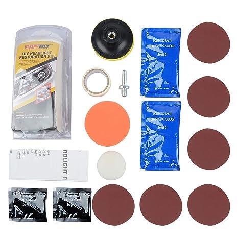 Amazon com: Headlight Restoration Kit, Professional Headlight Lens
