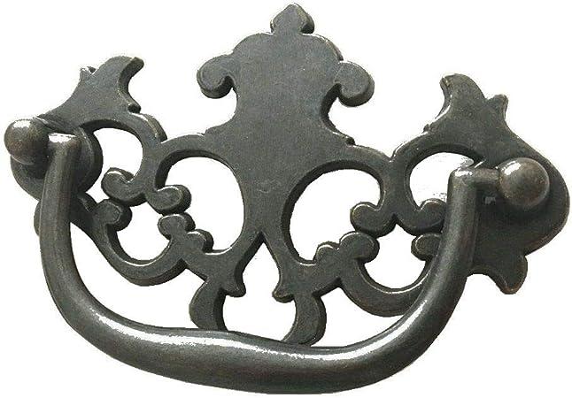 Bail Drawer Pull 6 in CC Bail Drawer Pull Drop Dresser Handle Vintage Style Dark Antique Bronze