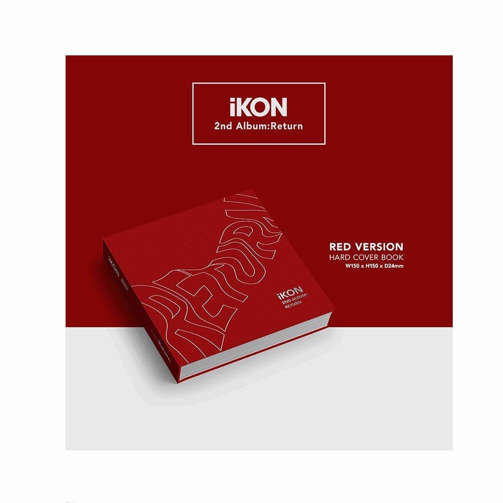 IKON 2nd Album : Return [ RED Ver  ] CD + Photobook + Lyrics