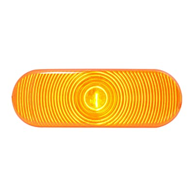 Grand General 80801 Oval Amber Sealed Light with Grommet & Pigtail: Automotive