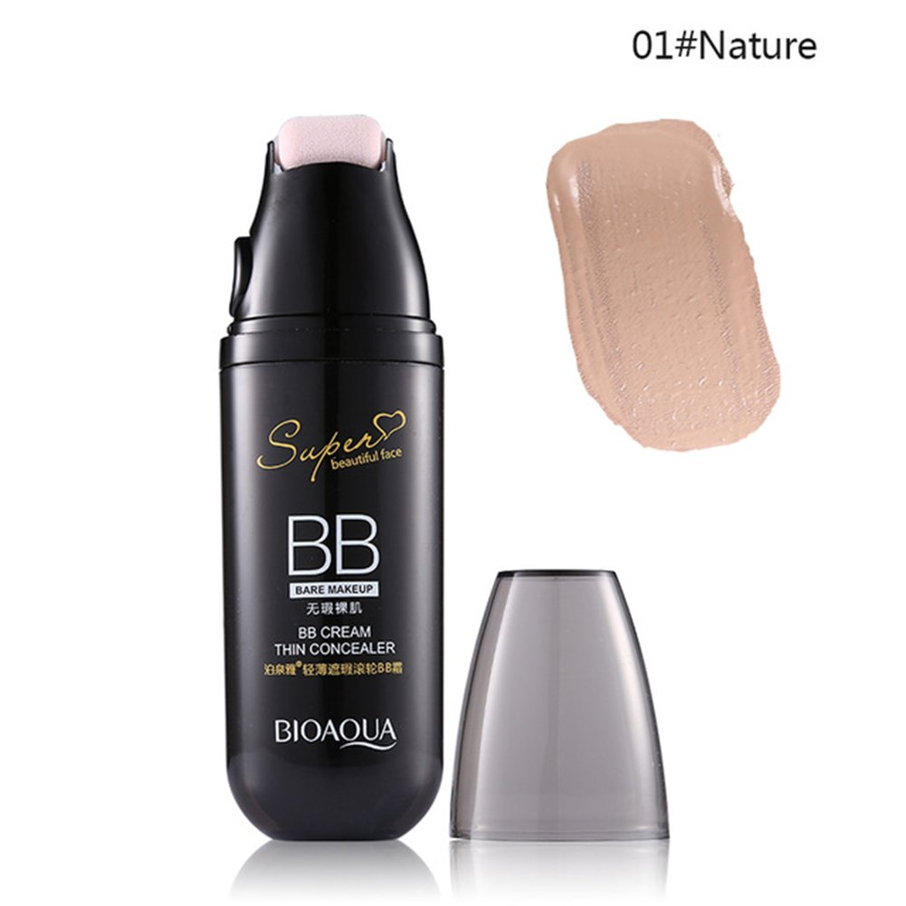 Yiwa BB Cream Base Makeup Concealer Moisturizer Cosmetics Face Foundation Makeup with Small Roller
