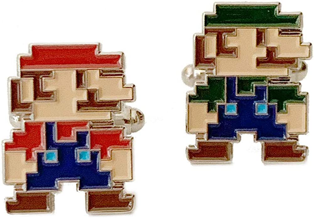 FRESH CUFFS Mario Bros Cufflinks Cuff Links Business Wedding Groomsmen Gifts by FRESHCUFFS