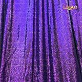 LQIAO Wedding Christmas Backdrop Glitter Purple 20FTx10FT Sequin Backdrop Window Curtain Photo Booth Photography Party Decoration