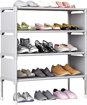 "26/"" 4 Tier Home Storage Organizer Tower Standing Shoe Rack Shelf Cabinet Saving"