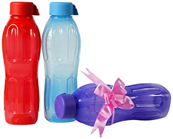 Signoraware agua fresca plástico juego de botella de agua, 500 ml, varios colores (