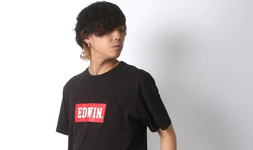 EDWIN TシャツBOXロゴBASIC PRINT H/S TEEメンズ