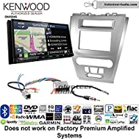 Volunteer Audio Kenwood Excelon DNX994S Double Din Radio Install Kit with GPS Navigation Apple CarPlay Android Auto Fits 2010-2012 Fusion (Silver) (Not for factory amplified systems)