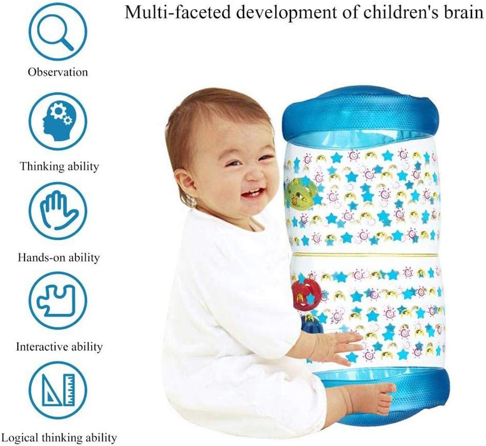 Daxoon Krabbelrolle Aufblasbares Baby Rollen Spielzeug f/ür M/ädchen und Jungen