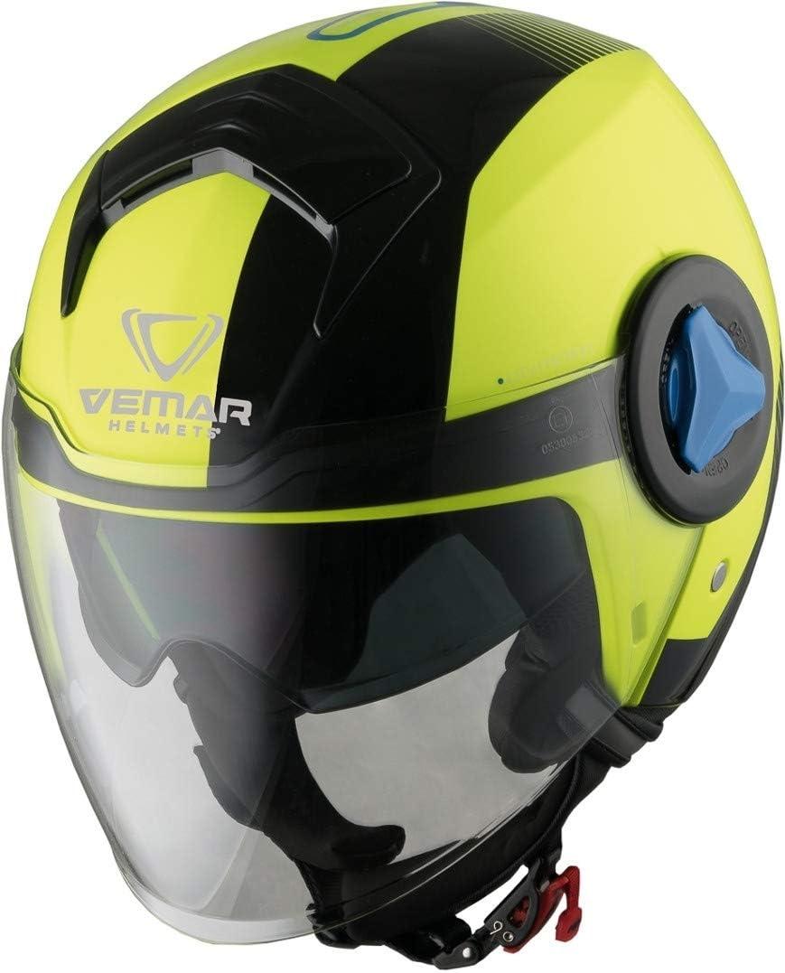 Vemar Breeze Radar Jethelm Neon Gelb L Auto
