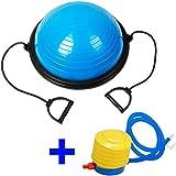 Ociodual Bos Up Balance Trainer Fitball Pelota de Gimnasia Pilates 60cm con Inflador Azul