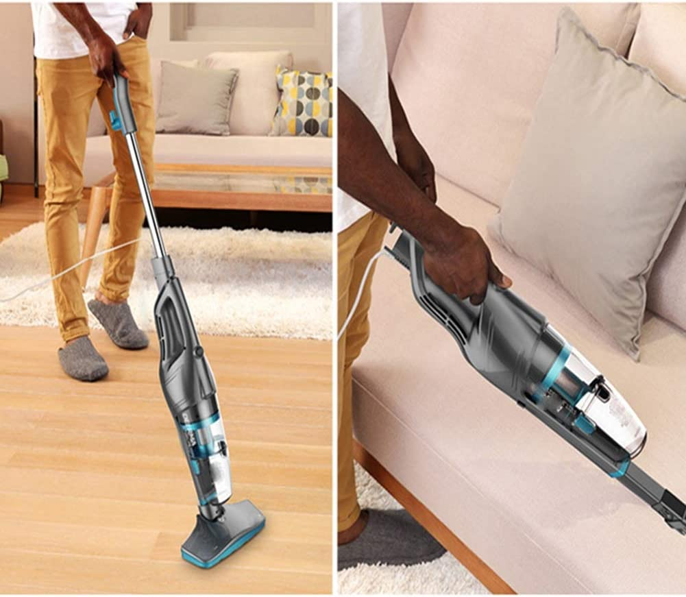 Lightweight Corded Bagless Stick with Handheld Powerful Lightweight Bagless,for Carpet,Hard Floor Pet Hair Car Interior High-Power Cyclone Suction AMYMGLL Vacuum Cleaner