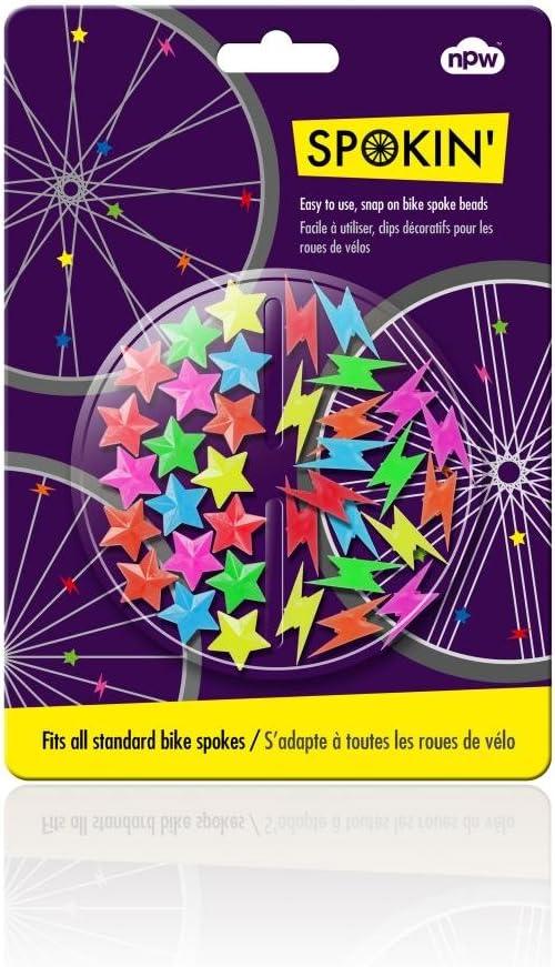 Bunte Speichenclips Sternchen Fahrrad verschönern mit Speichenschmuck Bike Clips