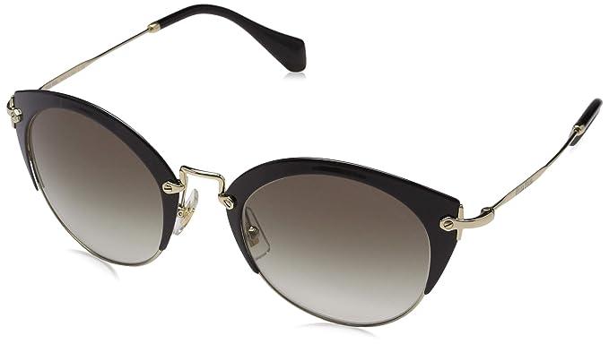 Amazon.com: Miu Miu Mujer esmaltado Cat Eye Sunglasses, 52 ...