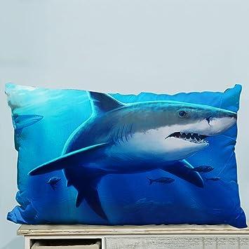 73c1e6464512 Amazon.com  Custom Sea Shark Fish Corals Underwater Ocean Pillow ...
