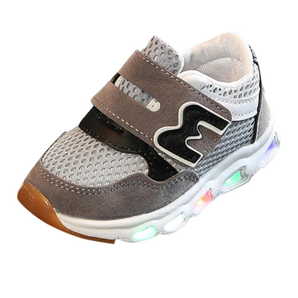 Challen for 1.5-6 Years Old Kids Shoes❤Toddler Infant Baby Boys Girls Mesh Led Light up Sport Sneakers, Infant Shoes, Crib Shoes, Summer Beach Shoes