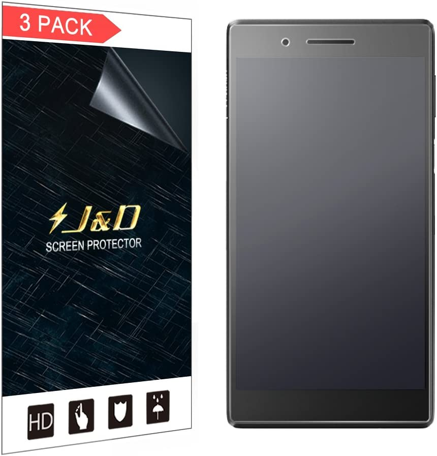 J&D Compatible for 3-Pack Lenovo Lenovo Tab 7 Screen Protector, [Anti-Glare] [Not Full Coverage] Matte Film Shield Screen Protector for Lenovo Tab 7 Matte Screen Protector