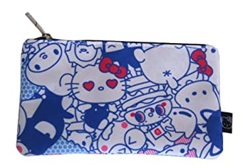39732a570 Amazon.com: Loungefly Hello Kitty Bright Friends School Pencil Case or Cosmetic  Bag: Beauty
