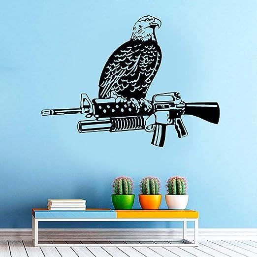 Decoración del hogar Vinilo calcomanía águila pájaro Sentado ...