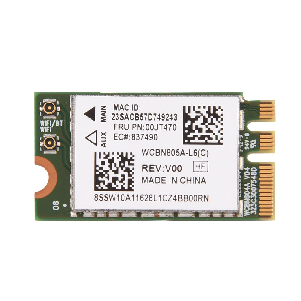 Vbestlife Tarjeta de Red Dual Banda WiFi Inalámbrica Amplia Compatibilidad con 2.4G / 5G NGFF / M2 para Lenovo/DELL/ASUS