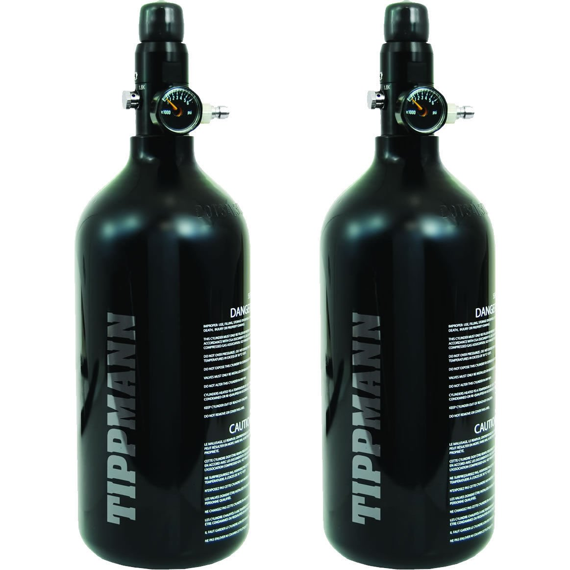 2 - Pack Tippmann 48ci 3000psi Aluminum HPA / Nitro / Compressed Air Tank