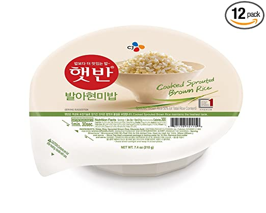 CJ Hetbahn arroz cocido, sin gluten, apto para microondas ...