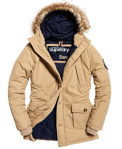 32ed3225f42 Superdry Mens Faux Fur Trimmed Everest Coat Sand XL: Amazon.ca ...