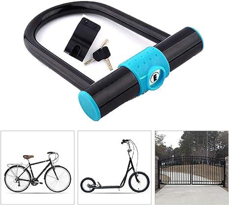 KuaiKeSport Candado en U Bicicleta con Abrazadera de Soporte ...