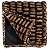 Donna Salyers' Fabulous Furs 60X86 Faux Fur Throw, 60''x86'', Shadow Mink