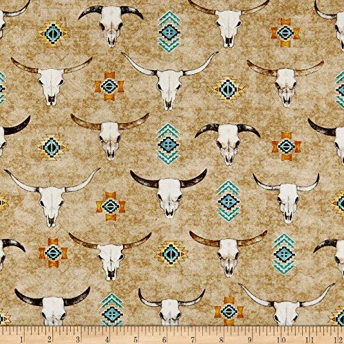 QT Fabrics Southwest Soul Longhorns Oatmeal Yard ()